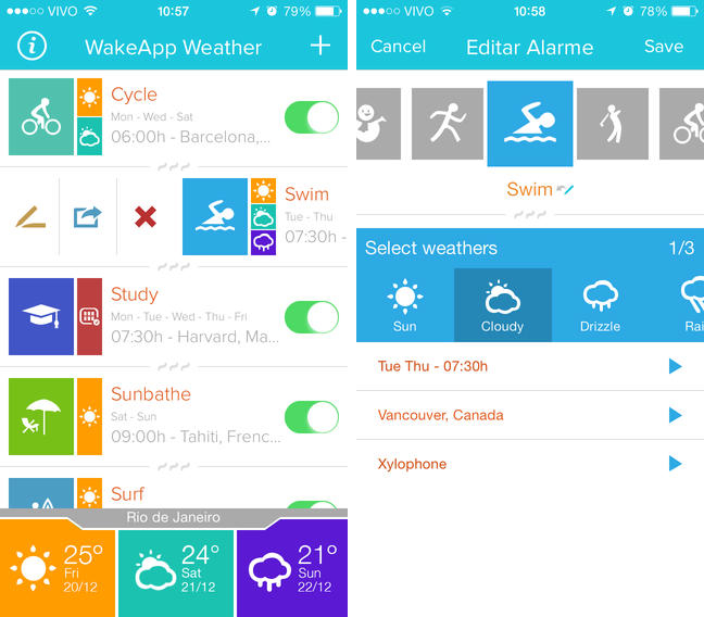 Photo of WakeApp Weather, Alarme baseados no Clima