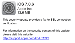 Photo of iOS 7.0.6 e 6.1.6, Apple TV 6.0.2 na Área, falha crítica