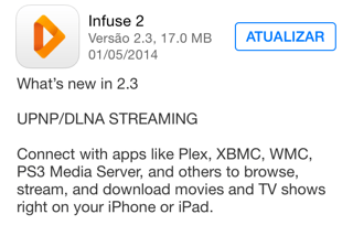 Photo of Infuse 2.3 na Área, UPNP/DLNA