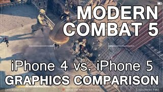 Photo of iPhone 4s vs. iPhone 5c: Gráficos do Modern Combat
