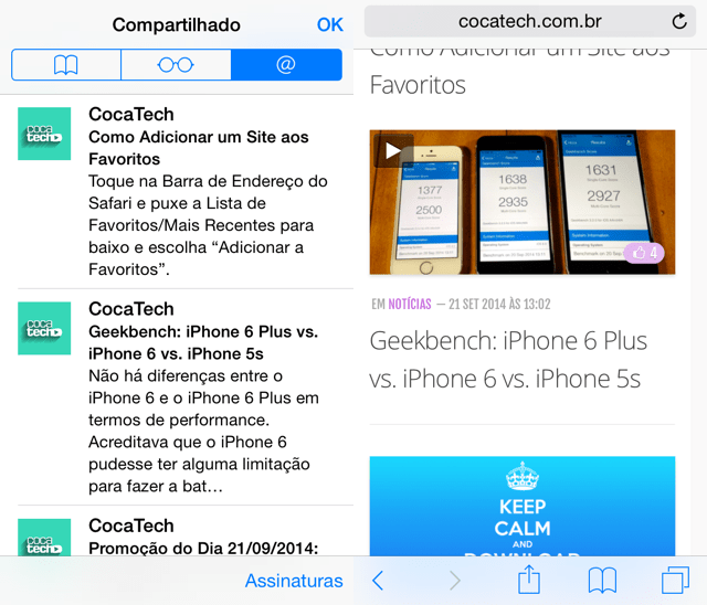 Foto de Como Ler seus Feeds RSS's no Safari do iOS