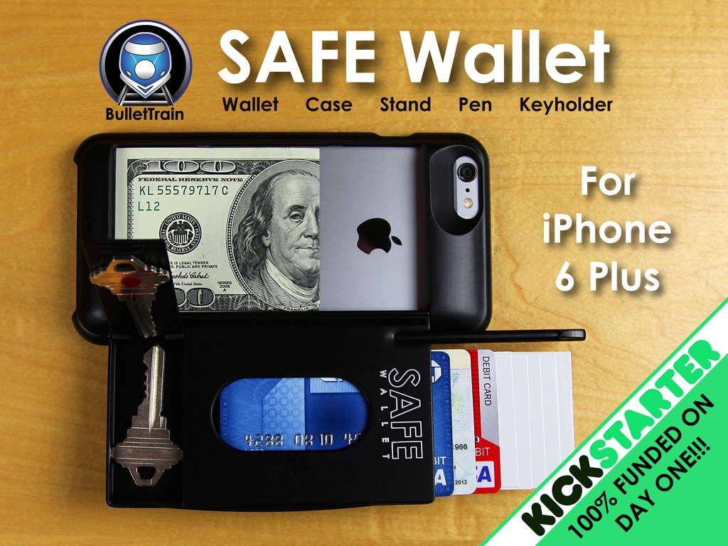 Photo of SAFE Wallet, case-carteira pra iPhone 6 Plus