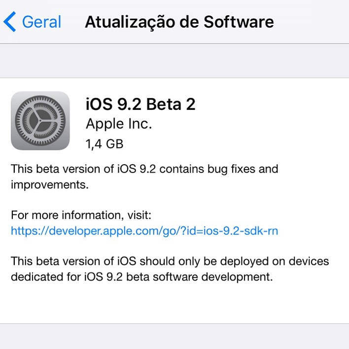 Photo of iOS 9.2 Beta 2 para dev's na Área