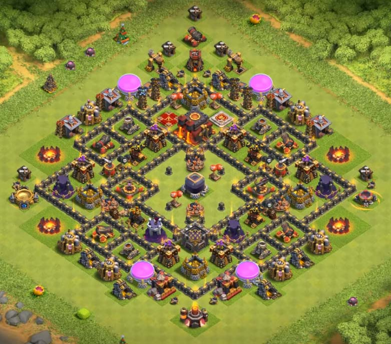 Hall Clans 9 2017 Town Clash Farming Base