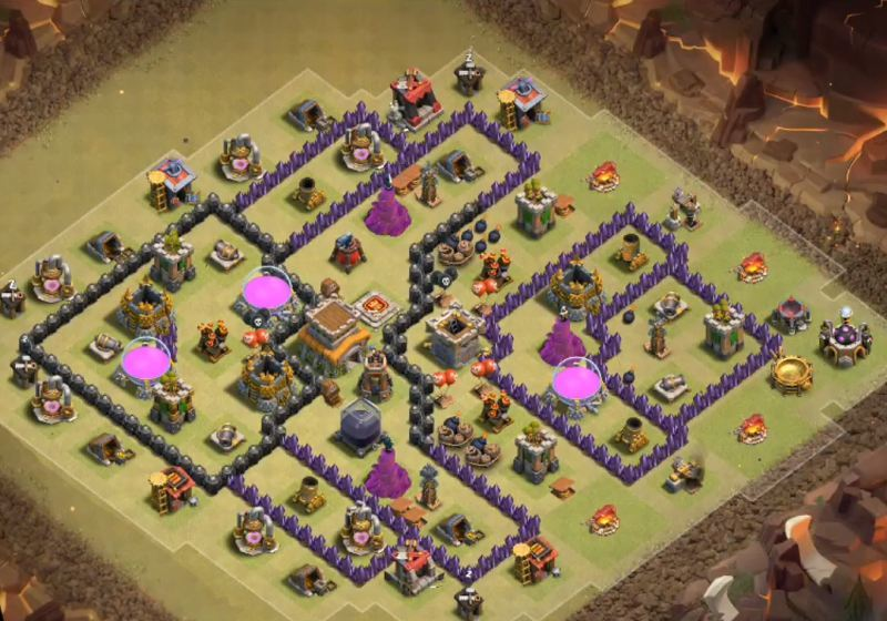 Defense Clans Th8 Clash Base