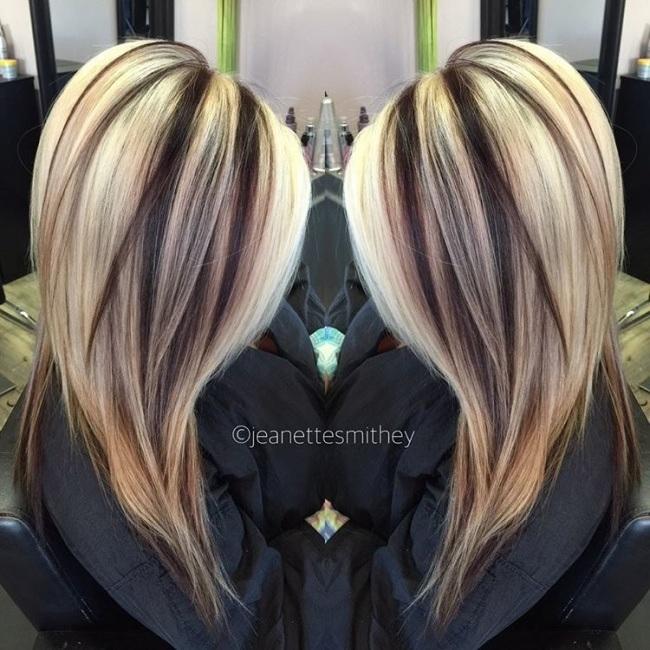 Blonde Hair Brown Low Lights