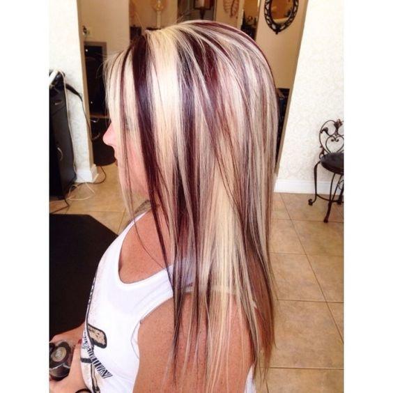 Brown Hair Blonde High Lights