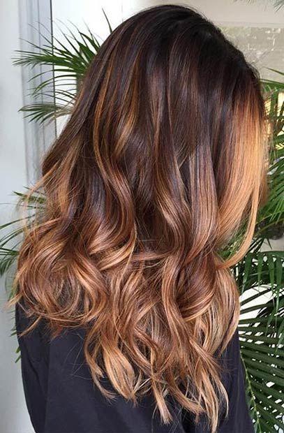 Mocha Caramel Ombre Hair Color