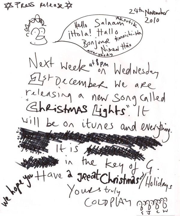 christmas lights coldplay # 16