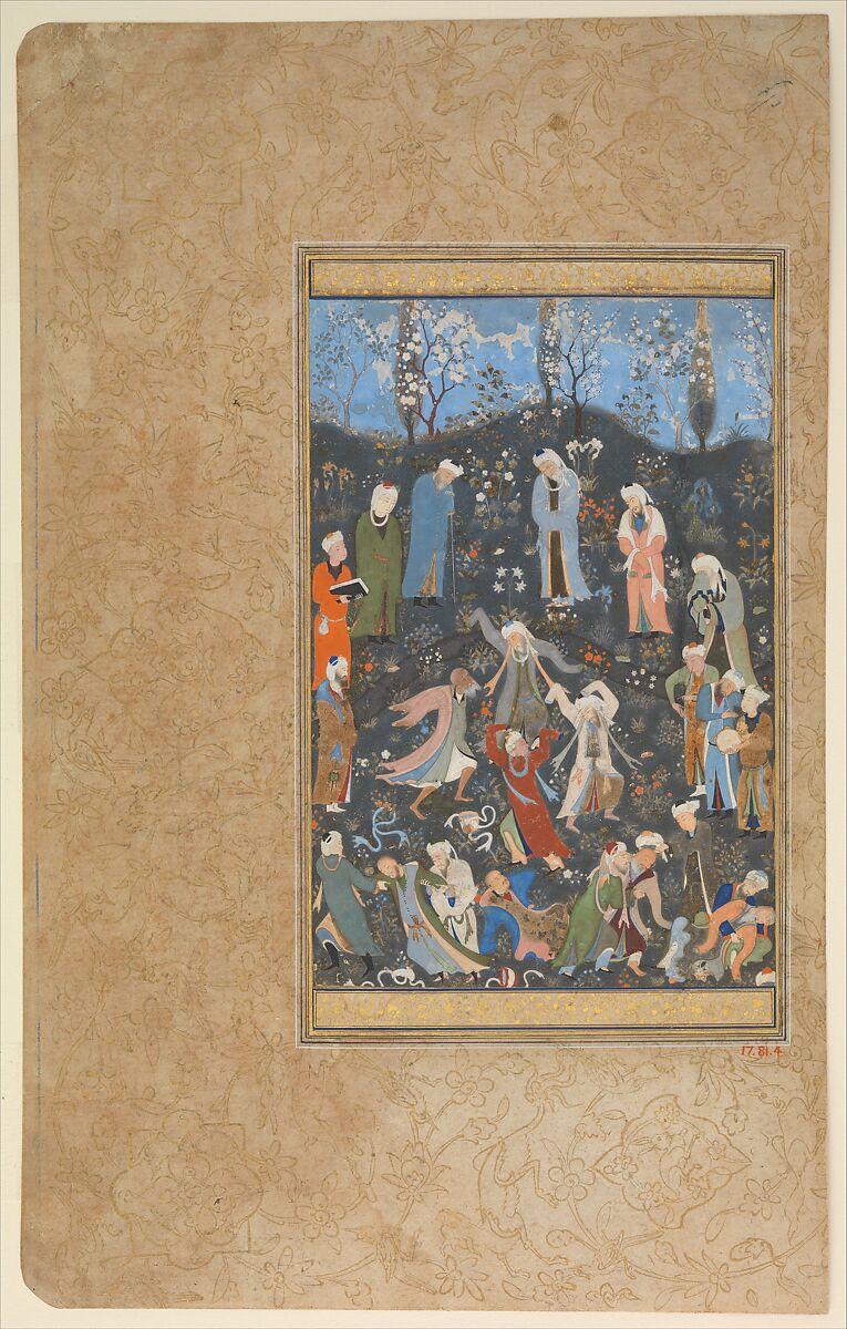 Hafiz Quot Dancing Dervishes Quot Folio From A Divan Of Hafiz