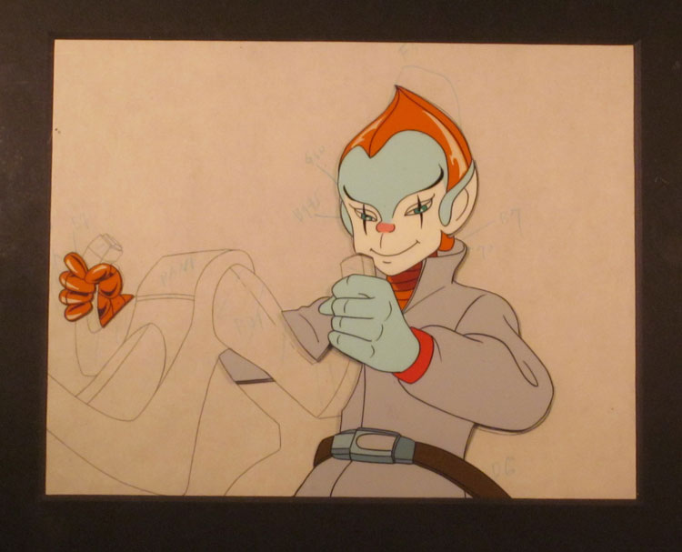 Silverhawks Copper Kidd Animation Cel   The Collector GeneThe         an alien from the planet of mimes  and he s easily one of the stranger  protagonists to appear on an action packed cartoon from the 1980s