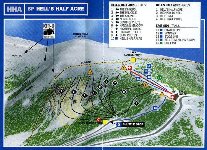 Ski Resorts Near Denver Colorado Map