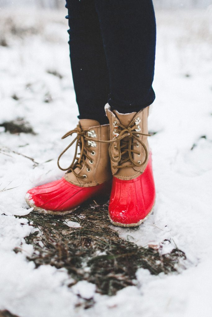 Winter Snow Olive Vest Red Snow Boots Color Amp Chic