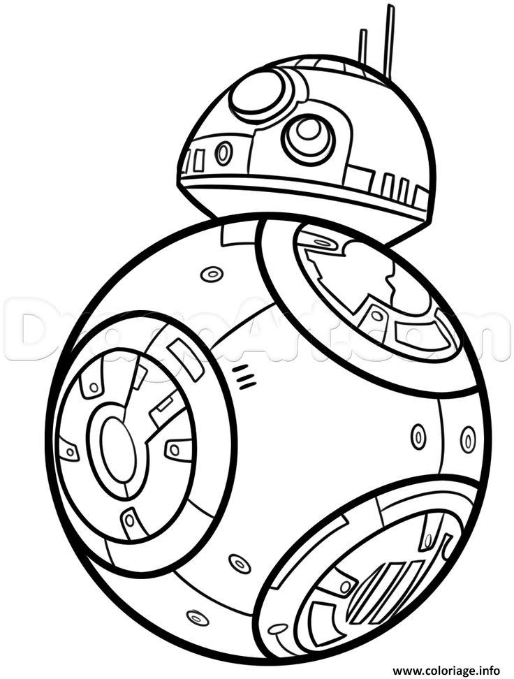 Coloriage Bb8 De Starwars Dessin