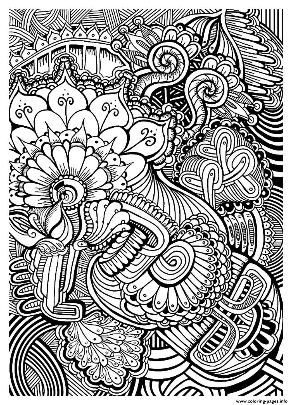 Adult Zen Anti Stress Relax To Print Coloring Pages Printable