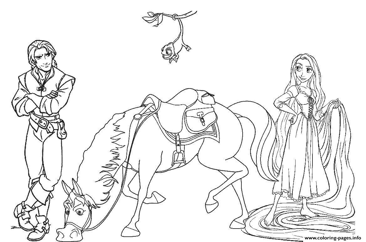 Tangled Disney Horse E4fe Coloring Pages Printable