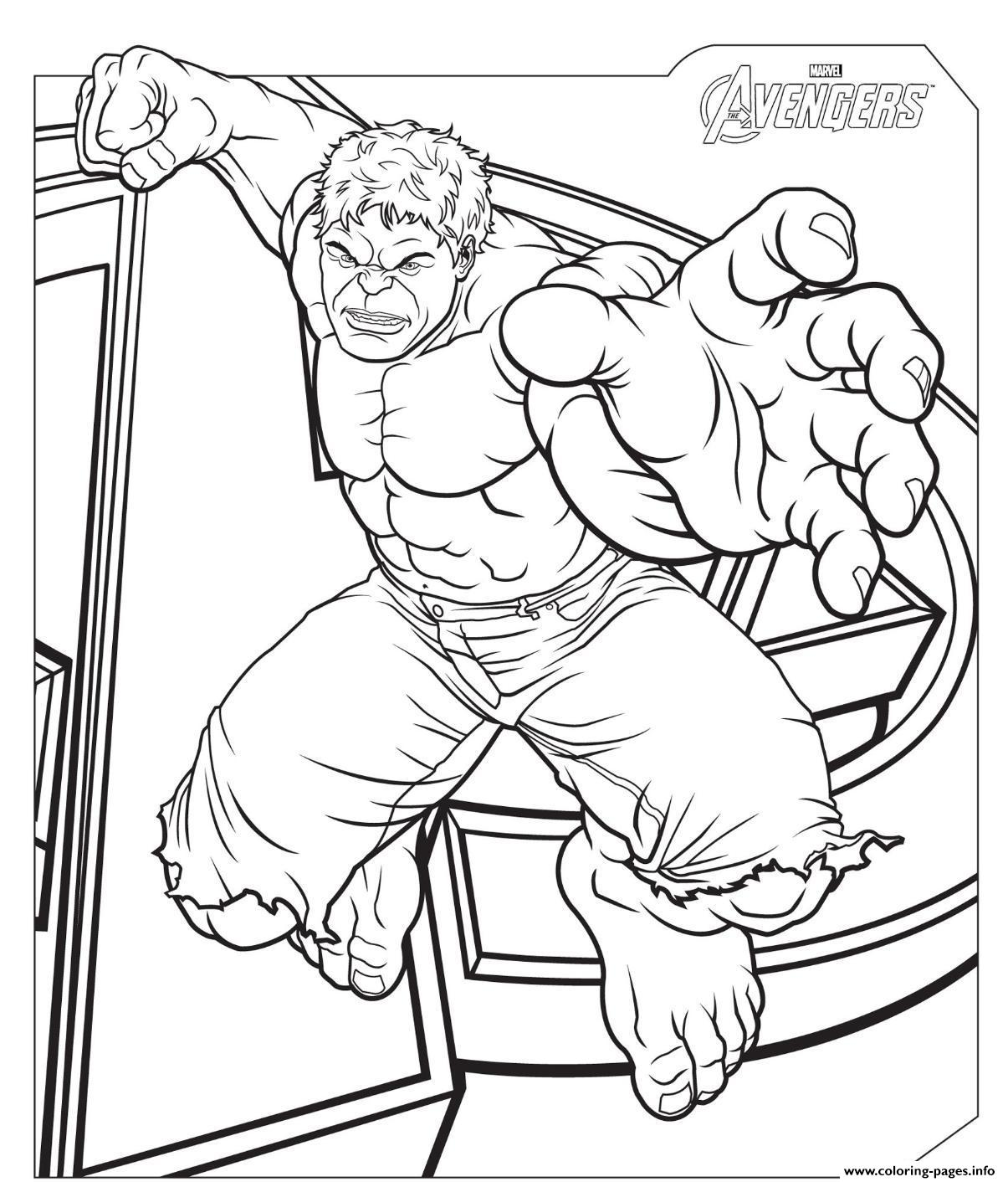 The Avengers Hulk S2f57 Coloring Pages Printable
