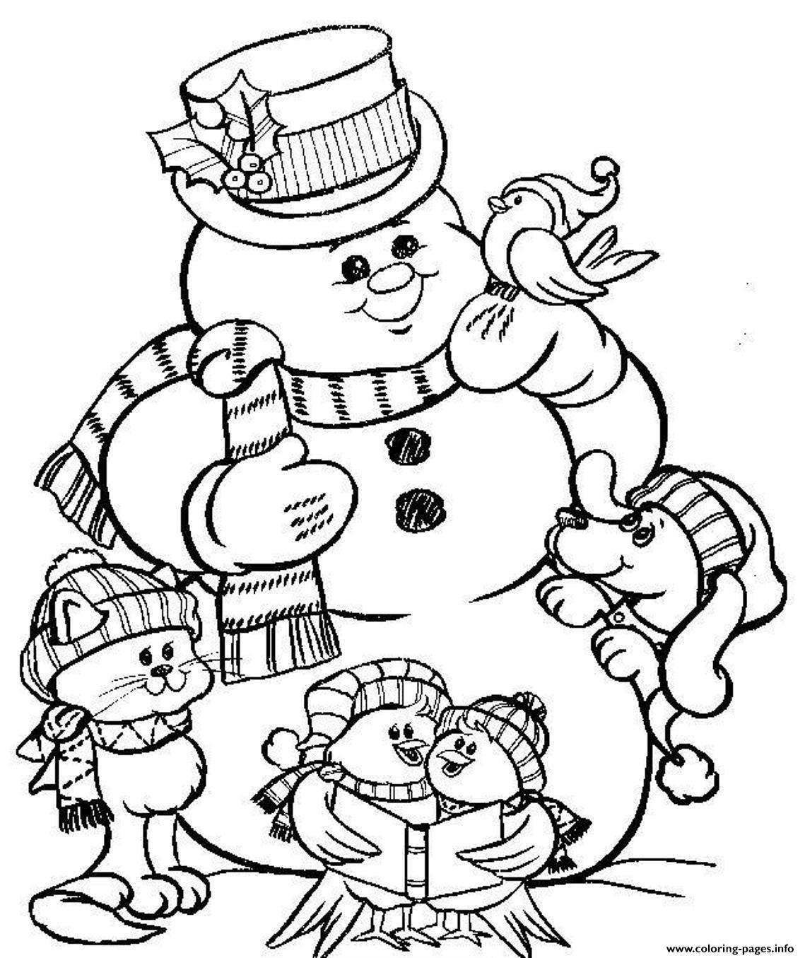 Snowman S To Print For Christmas426a Coloring Pages Printable