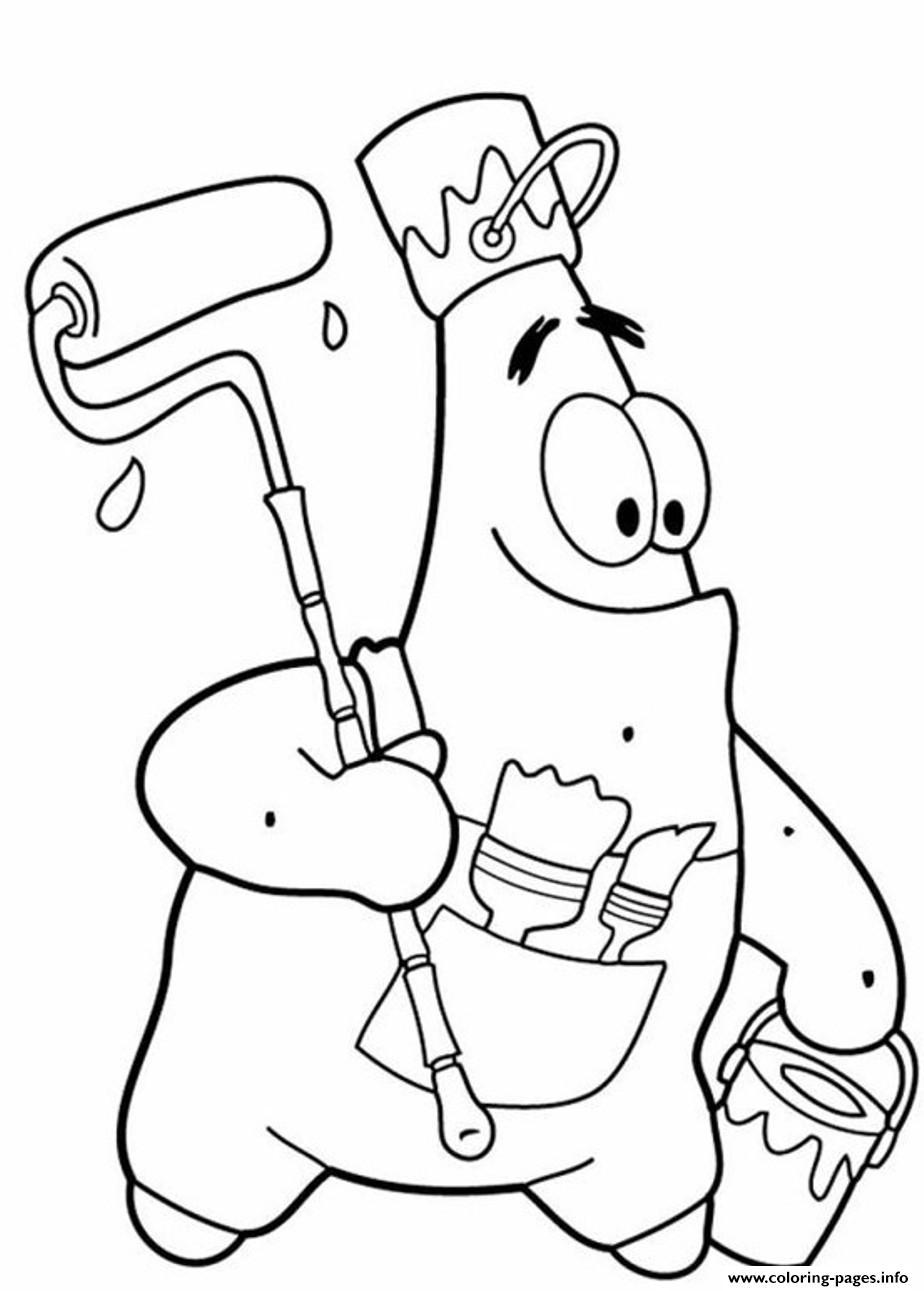 Funny Patrick Star S Spongebob Cartoon1d0c1 Coloring Pages Printable