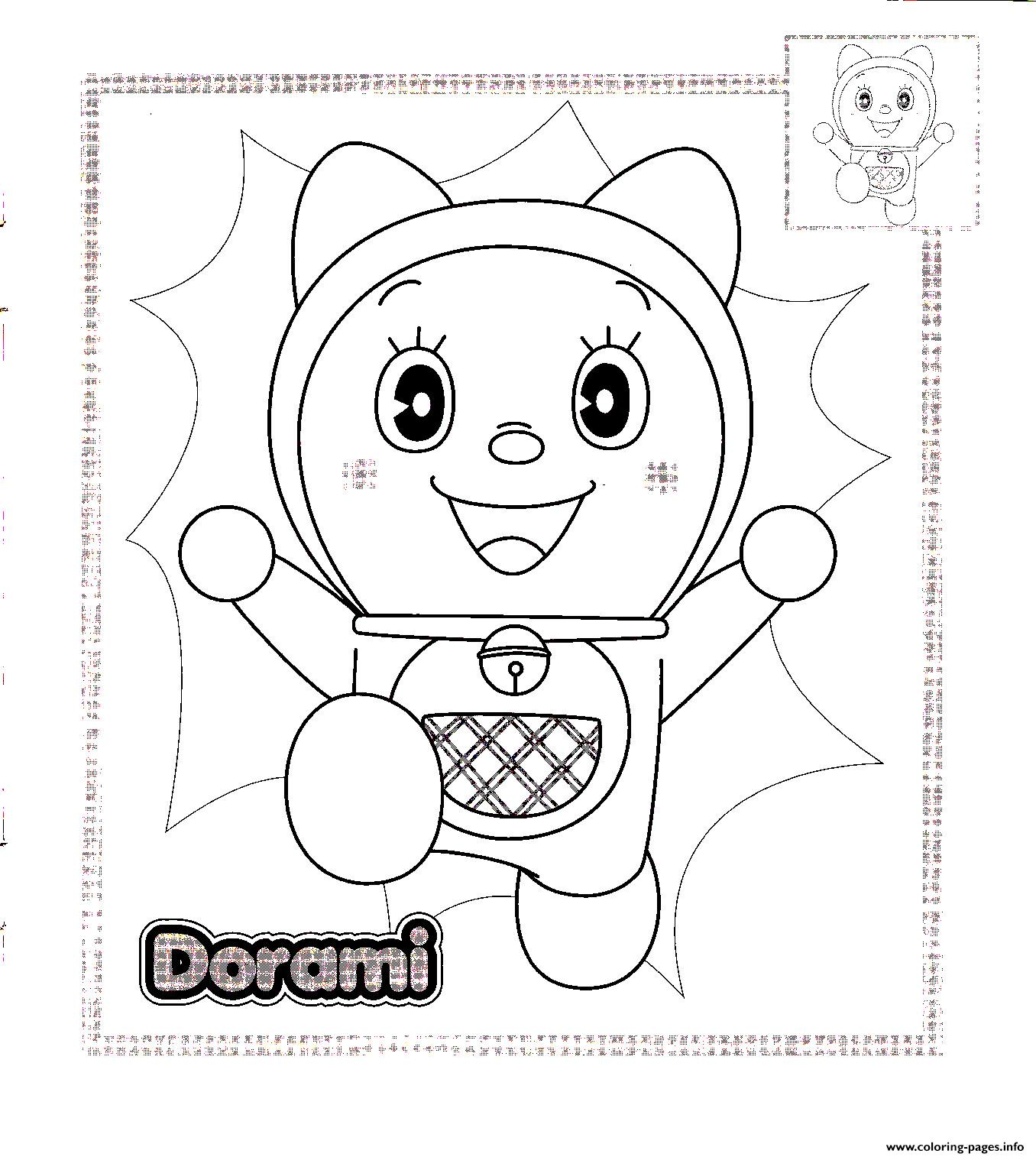 Doraemon Coloring Pages Free Printable