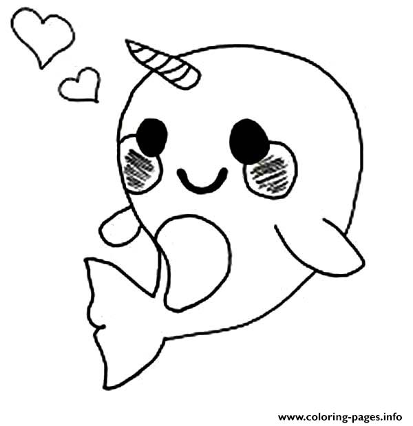 narwhal coloring page # 2
