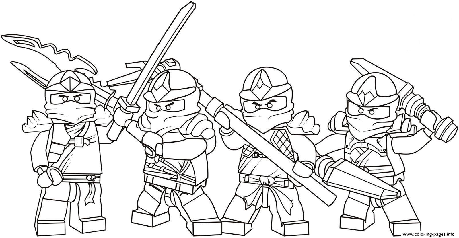 Kids Ninjago Sdb99 Coloring Pages Printable