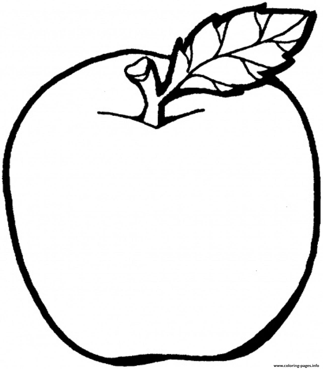 Apple Fruit S For Kids14b4 Coloring Pages Printable