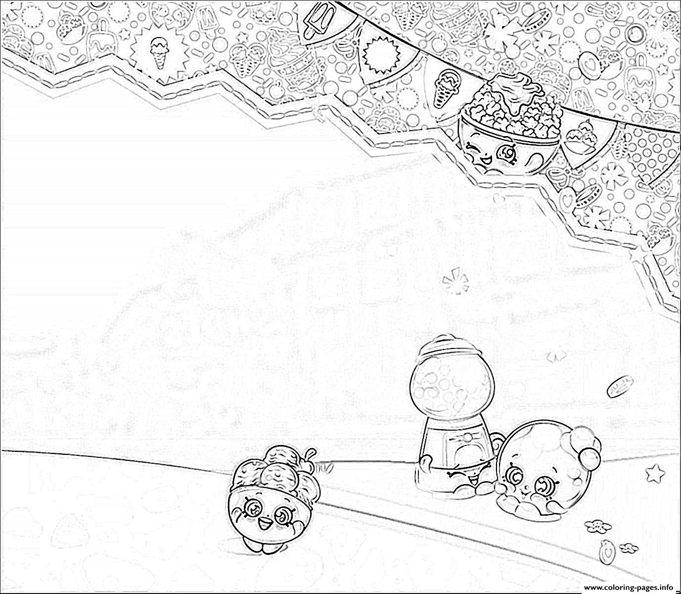 Shopkins World Background Coloring Pages Printable