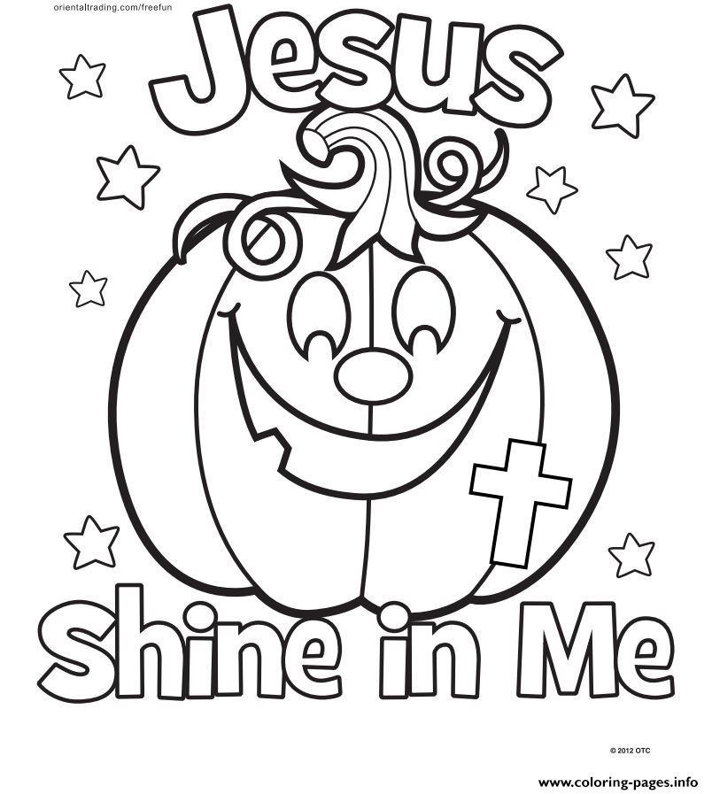 Jesus Let Your Light Shine Coloring Sheet