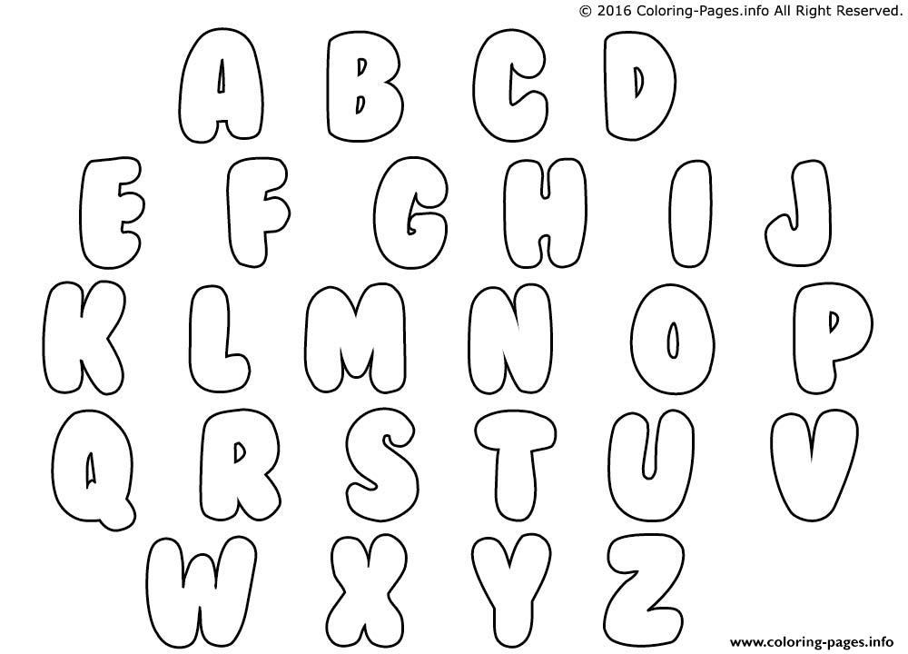 Printable Bubble Letters