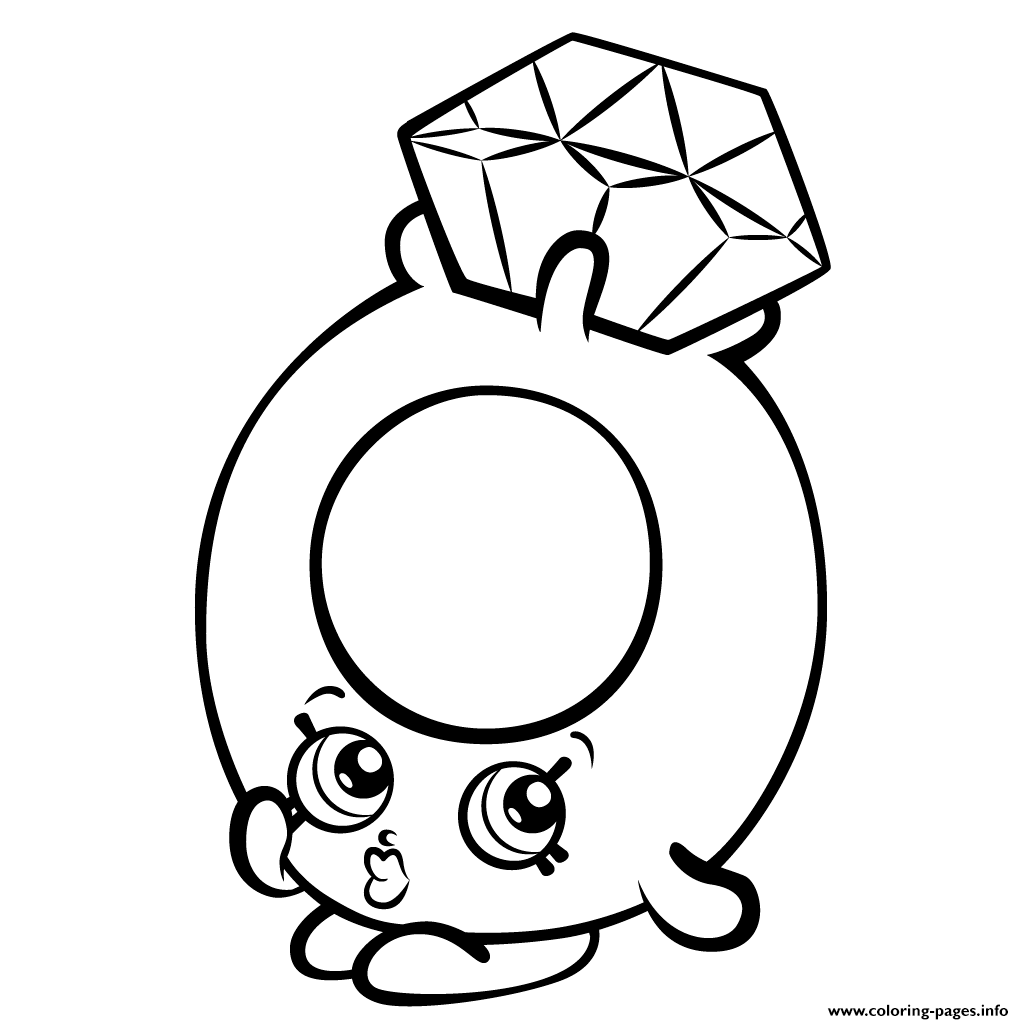 Roxy Ring With Diamond Shopkins Season 3 Coloring Pages Printable