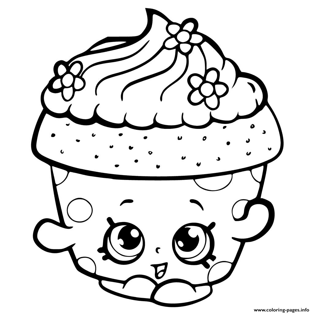 Shopkins Season 6 Cupcake Petal Coloring Pages Printable