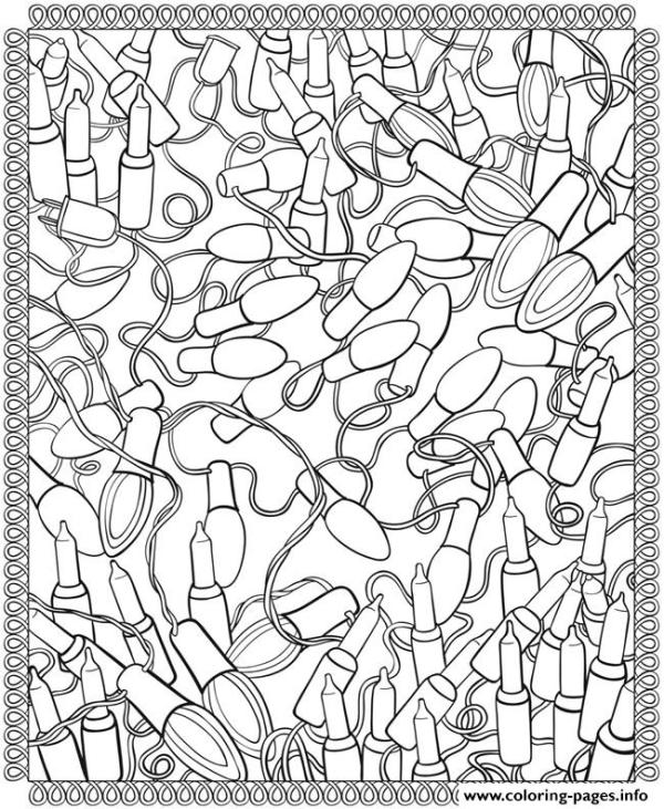 adult christmas coloring pages # 22