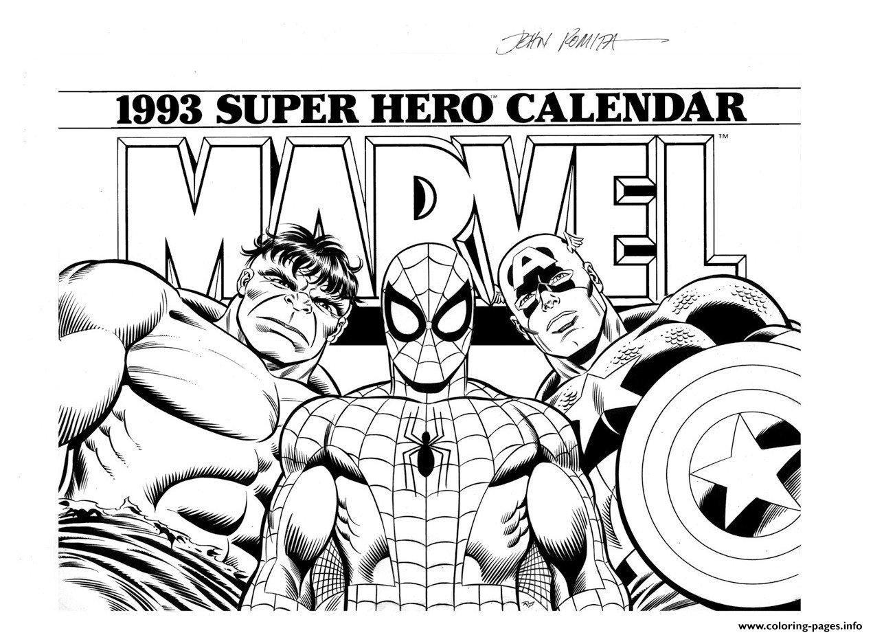 Marvel Heroes Coloring Pages Free Coloring Pages Download | Xsibe ...