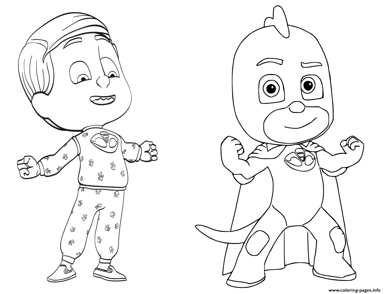 Greg Is Gekko From Pj Masks Coloring Pages Printable