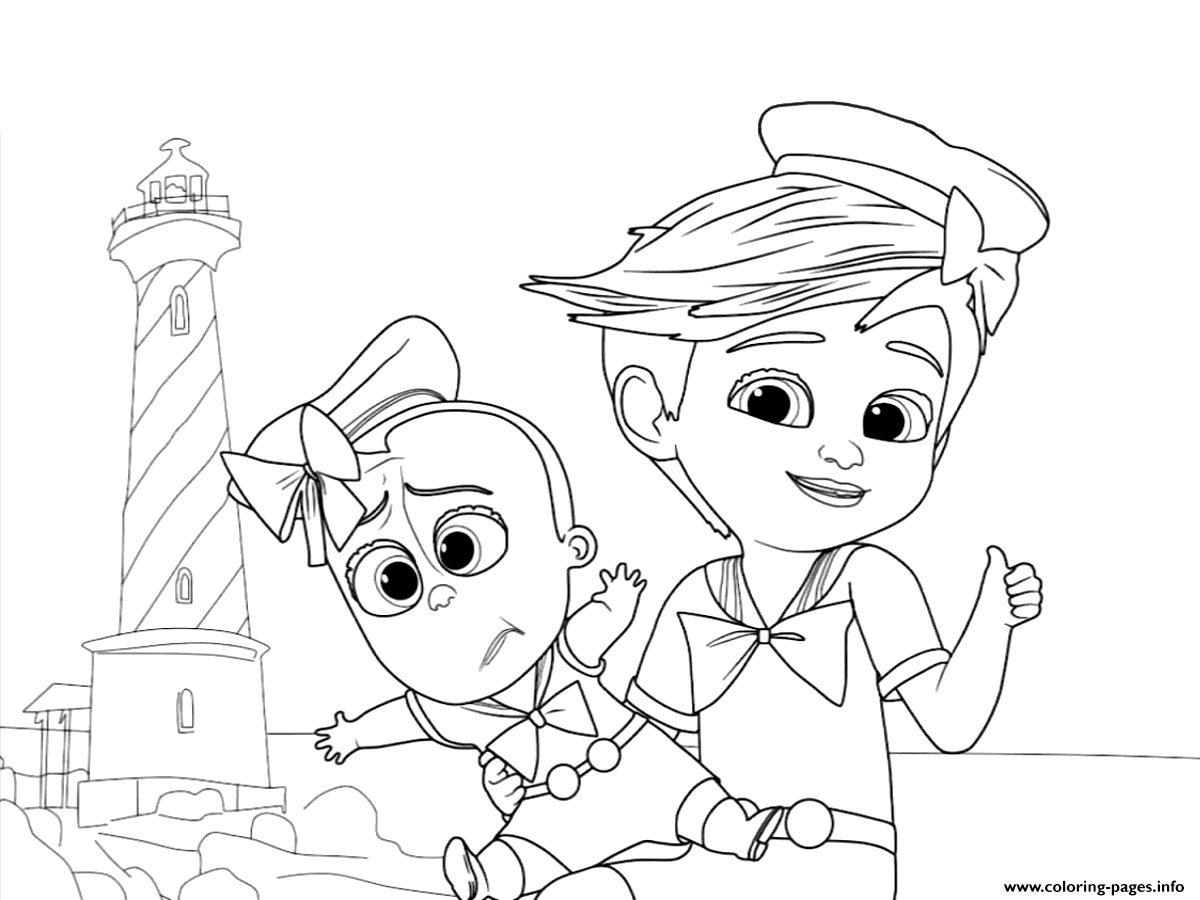 Boss Baby Coloring Pages Free Printable