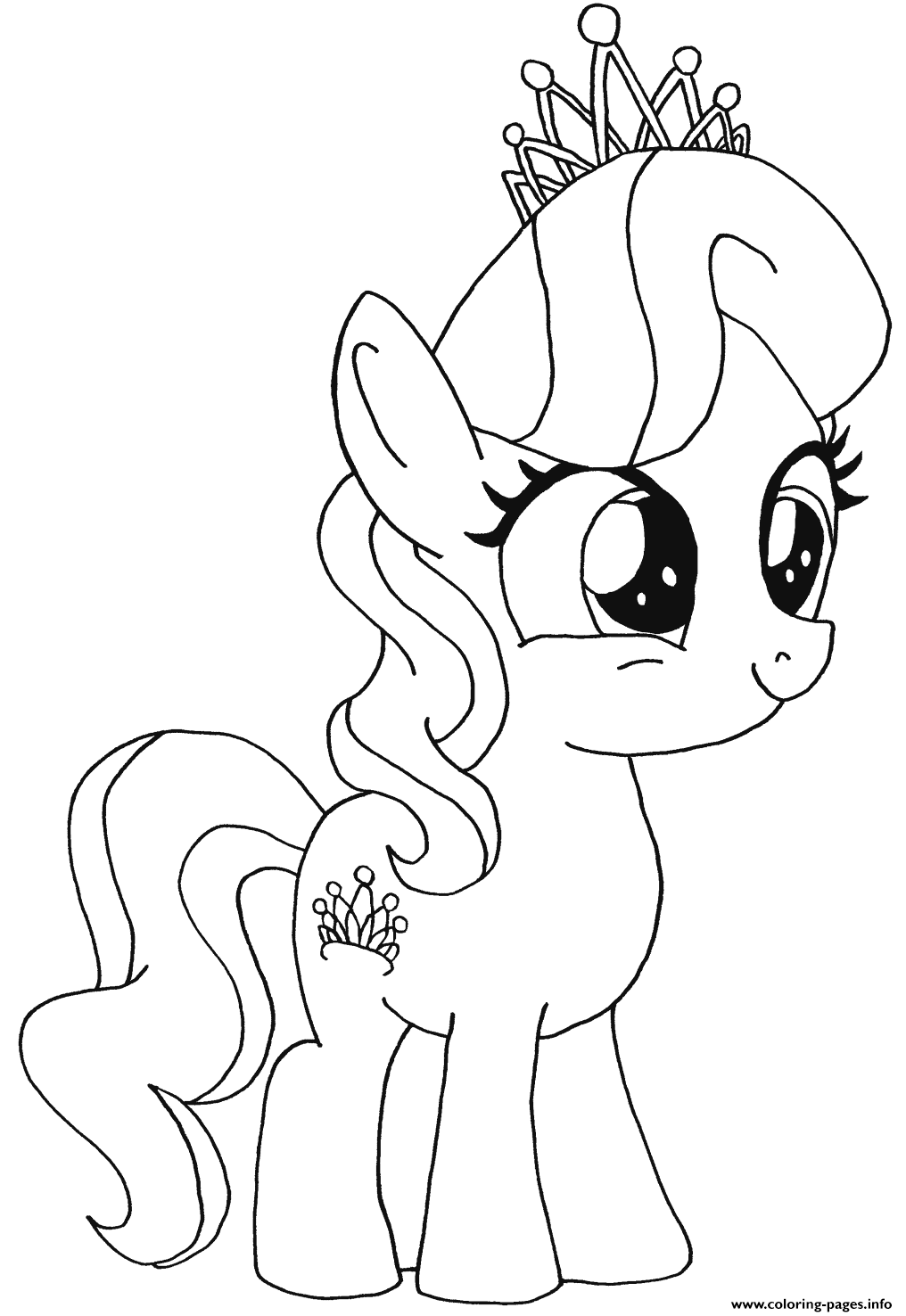 Diamond Tiara My Little Pony Coloring Pages Printable