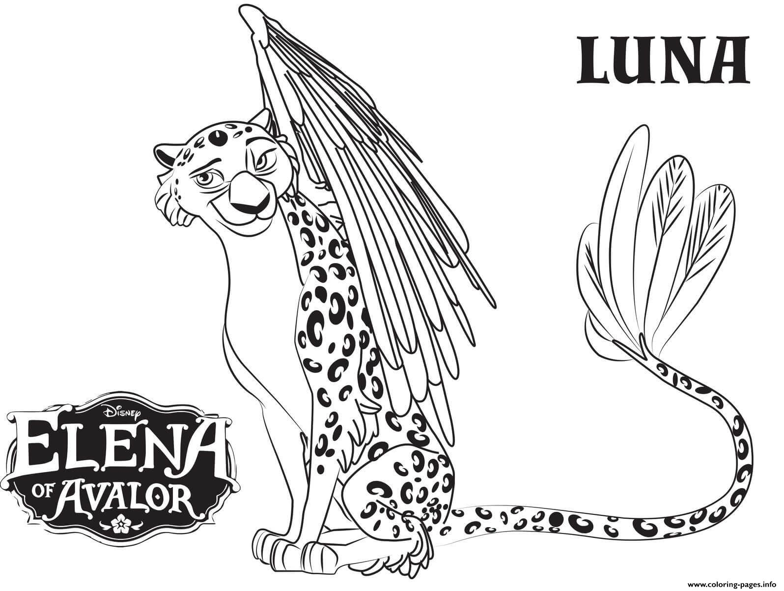 Elena Of Avalor Luna Coloring Pages Printable