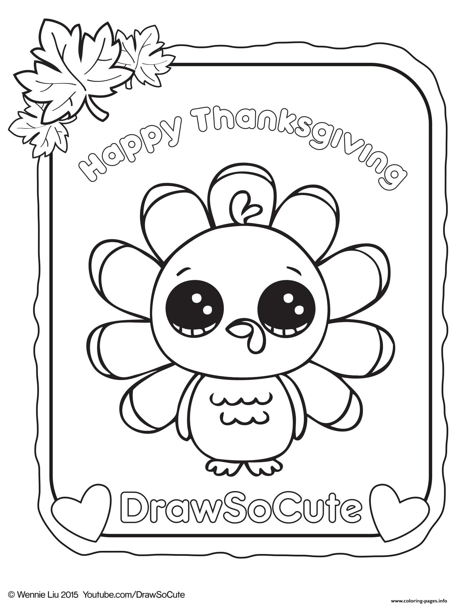 Cute Turkey Coloring Pages Coloring Page