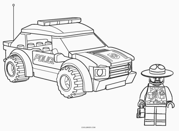 policeman coloring page # 44