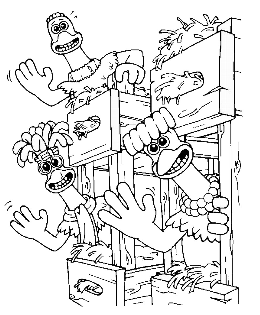 Gambar Chicken Run Drawing And Coloring Book For Kids Jpeg Png Gif ...