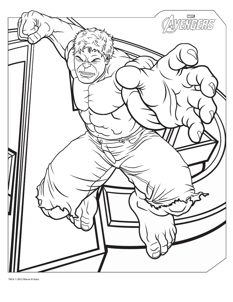 Avengers Thor Colouring Pages Coloring Page