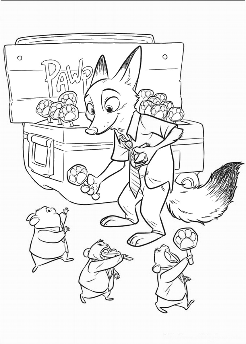 Zootropolis Coloring Pages