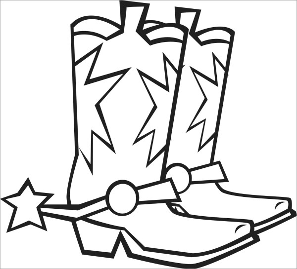 cowboy boots coloring pages # 11