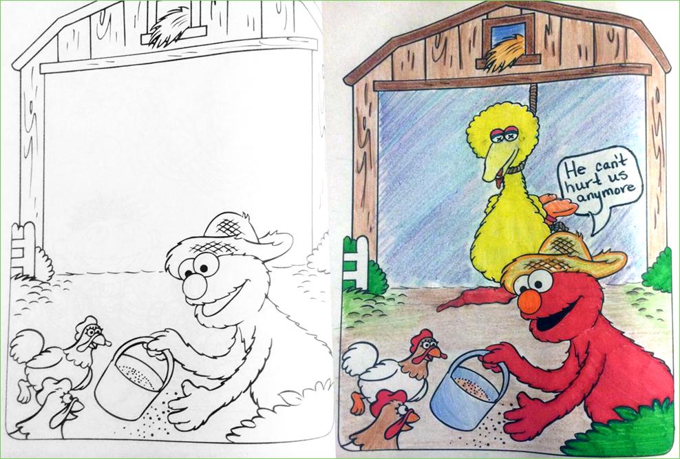 Elmo Coloring Book Corruptions