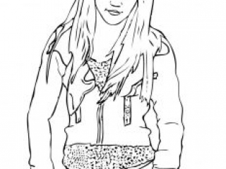 hannah montana coloring pages # 87