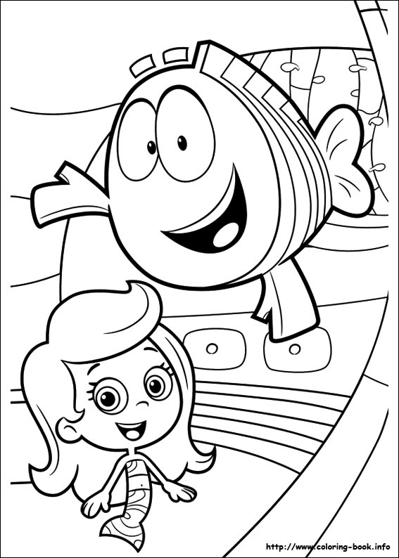 bubble guppies coloring page # 24