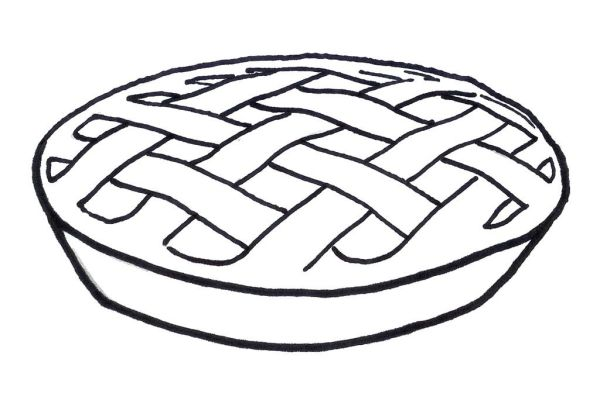 pie coloring page # 5