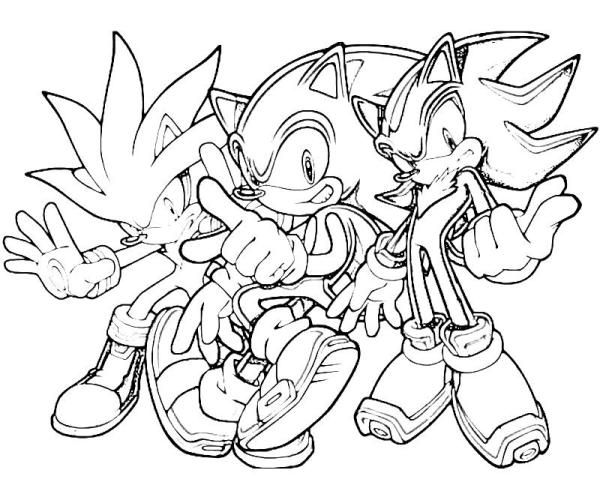 shadow the hedgehog coloring pages # 3