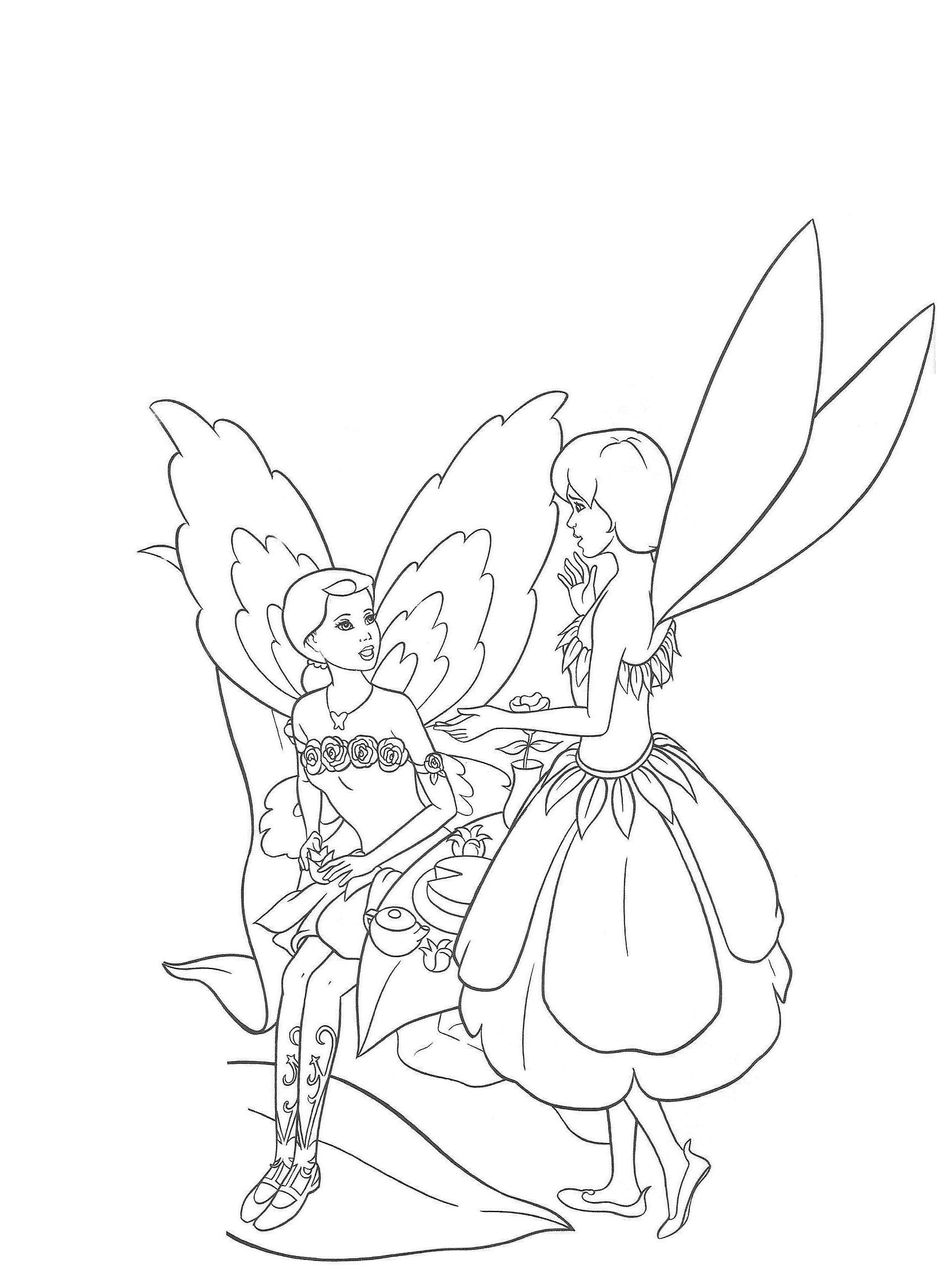 Barbie Fairytopia Mermaidia Coloring Pages Page 1 Coloring Home